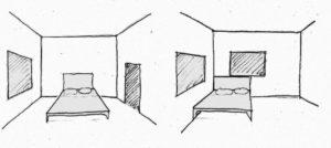 Pozicija prozora u spavaćoj sobi